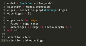 SketchUp Script: Select Outer Edges
