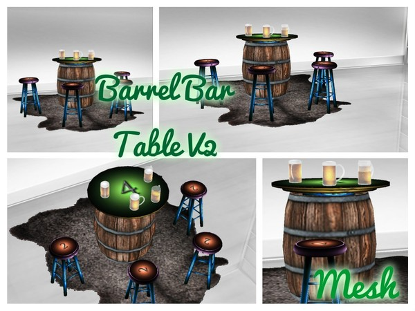 Barrel Bar Table v2 w/Poses