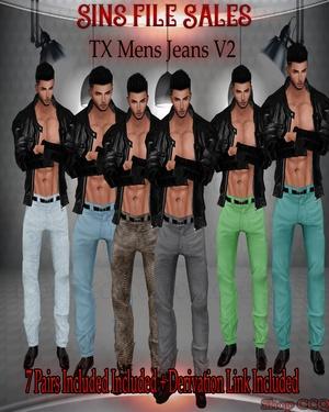○Mens Jeans Set V2○7 Pairs