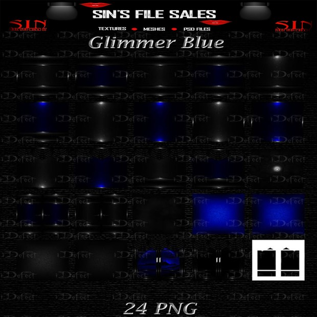 Glimmer Blue Texture Pack