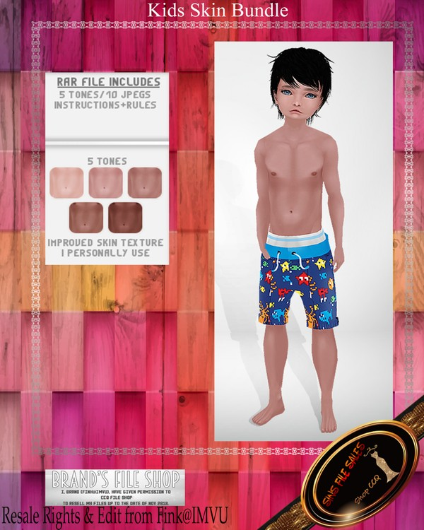 •Kids Skin Pack• 5 Skins Included