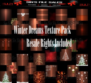 ❉Winter Dreams Texture Pack / Resale Rights Included❉