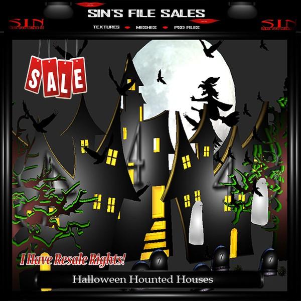 Haunted Halloween House Set * Mesh