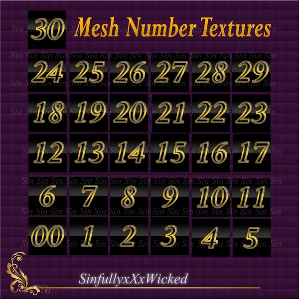 Mesh Numbered Textures (00-30)