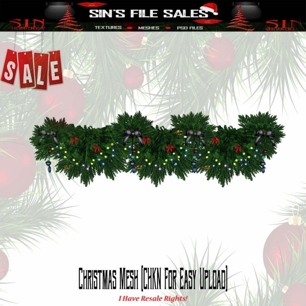 🎄Christmas animated Garland (CHKN File for Easy Upload)🎄