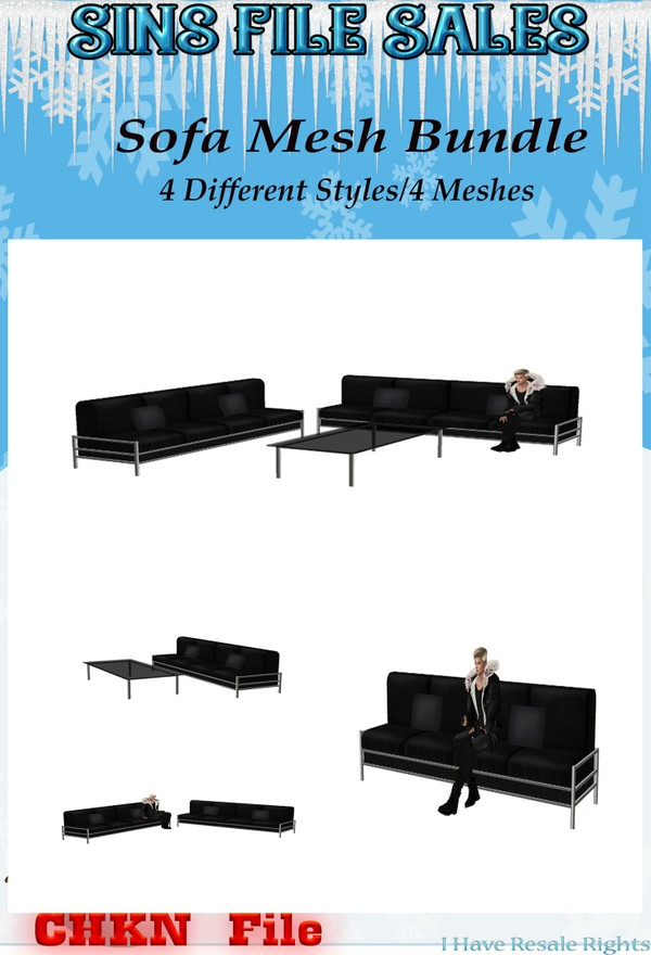 Sofa Mesh Bundle (4 CHKNs)