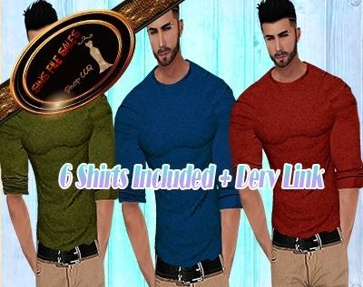 •Mens Shirt Set• 6 Shirts+Derv Link