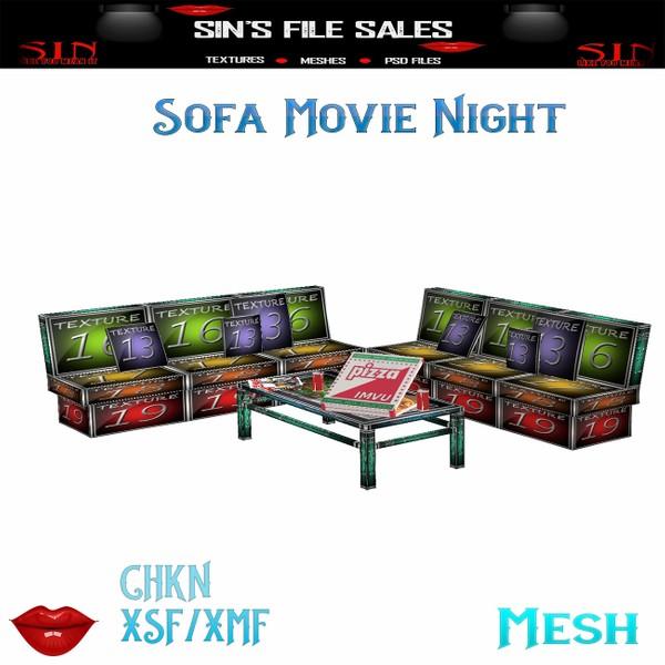Sofa Movie Night * Mesh