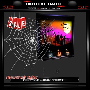 Spider Candle Frame Mesh
