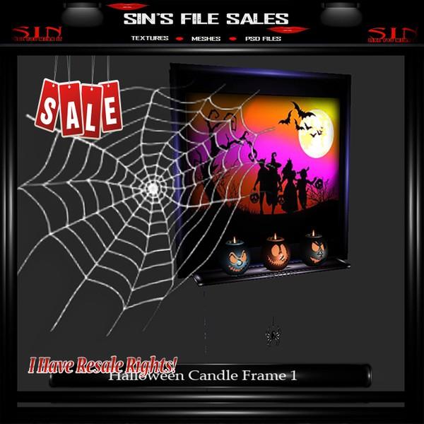 Spider Candle Frame Mesh