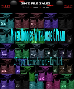 Mixed Hoodie Set *27 Hoodie Textures Included + Derv Link