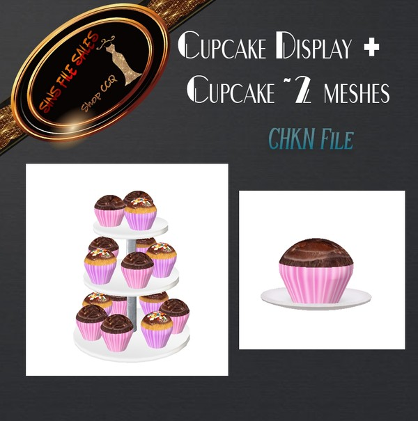 •Cupcake Set• 2 Meshes CHKN Files