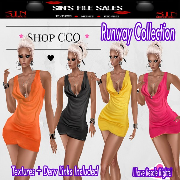 Runway Collection ( 4 Dresses Included)