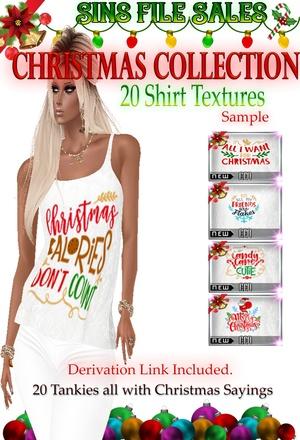 Christmas Themed Saying Womans Tank- 20 Shirts
