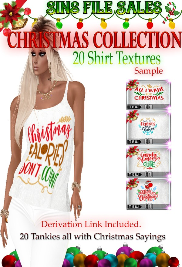 Christmas Themed Saying Womans Tank- 20 Shirts