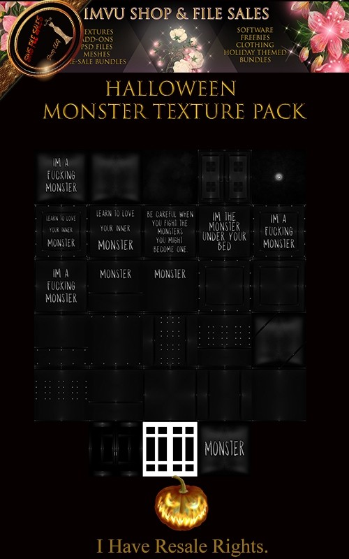 🎃 Halloween Monster Texture Pack🎃