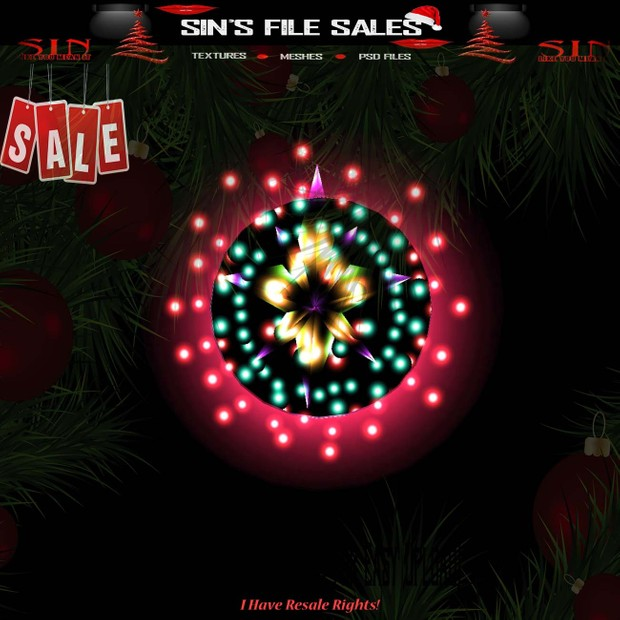 🎄Neon Wreath  (CHKN File for Easy Upload)🎄