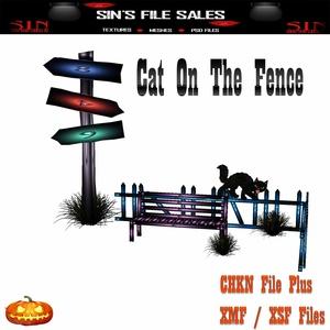 Cat On Fence Set *Mesh