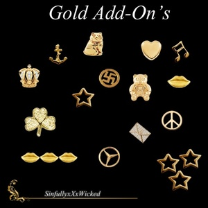 Gold Tone Charm Add-On's (15 png files)