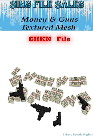 Guns & Money Textured Mesh (CHKN)