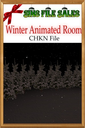 Winter Room Mesh *Animated Snow* Chkn