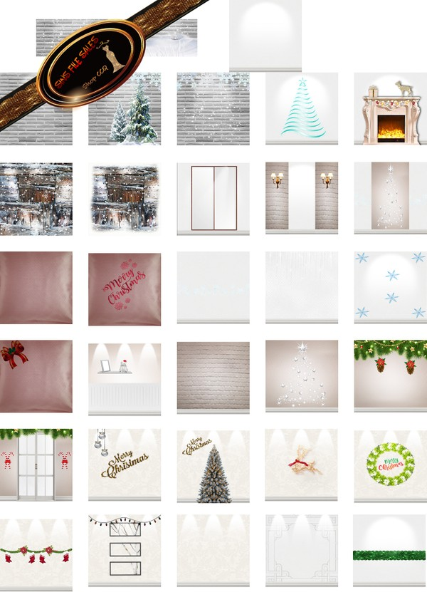 •Frosty Night Texture Pack•33 Files