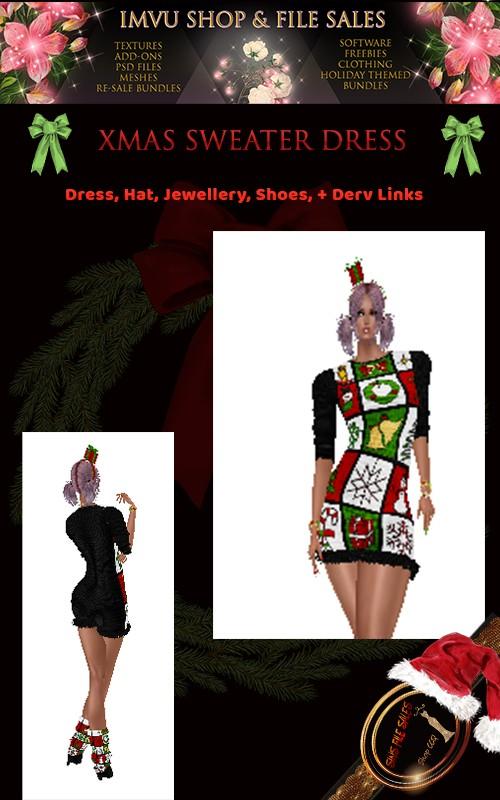 Christmas Sweater Dress Bundle- Derv Links Included