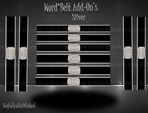 Word*Belt Add-On's *Silver*