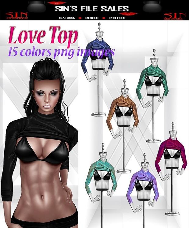Love Top * 15 Colors + Derv Link