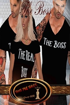 Matching•His and Her Boss Shirts