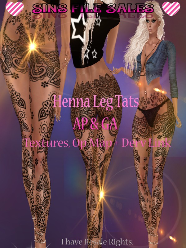 Henna Leg Tattoos