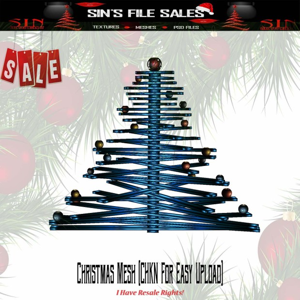 🎄Wooden Animated Christmas Tree (CHKN File for Easy Upload)🎄