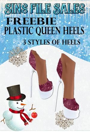 Freebie :Plastic Queen Heels *CHKN