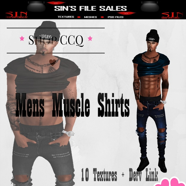 Muscle Shirts *10 Colors + Derv Link