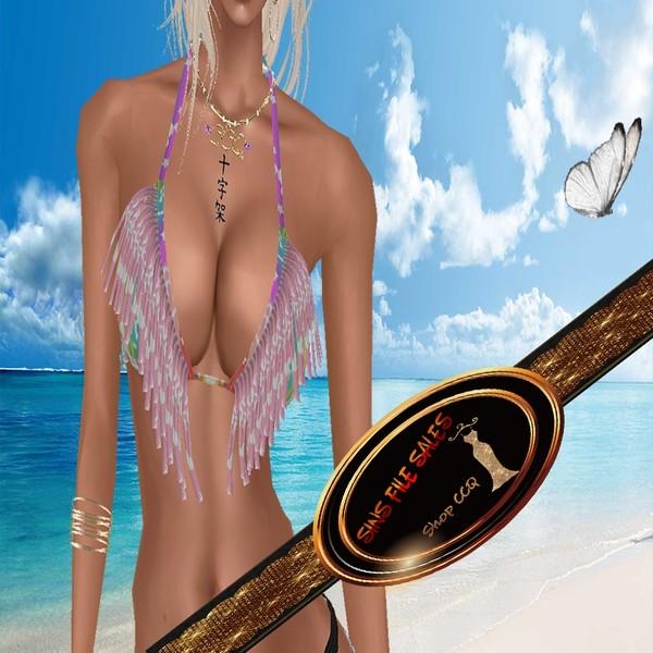 •Freebie Unicorn Frill Bikini Top•