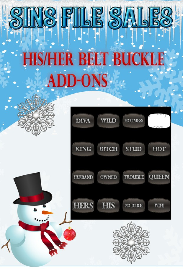 HIS/HER Belt Buckle Add-On's