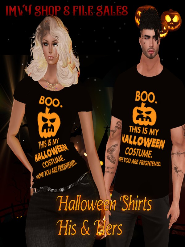 🎃 Halloween His/Hers BOO Shirts 🎃 Derv Link Included