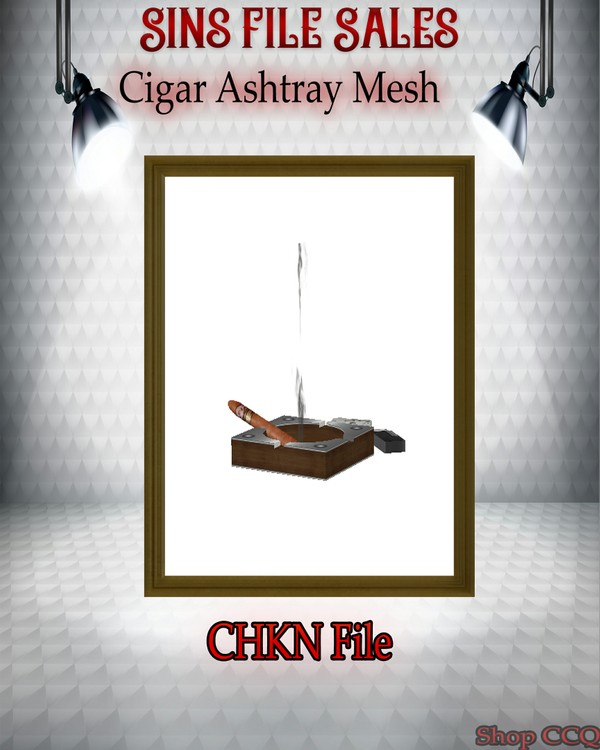 •Cigar Ashtray Set Mesh •