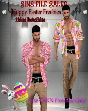 ♥FREEBIE♥Mens Easter Shirts