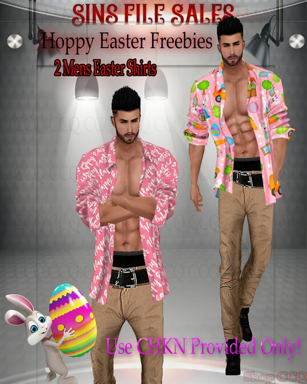 ♥FREEBIE♥Mens Easter Shirts