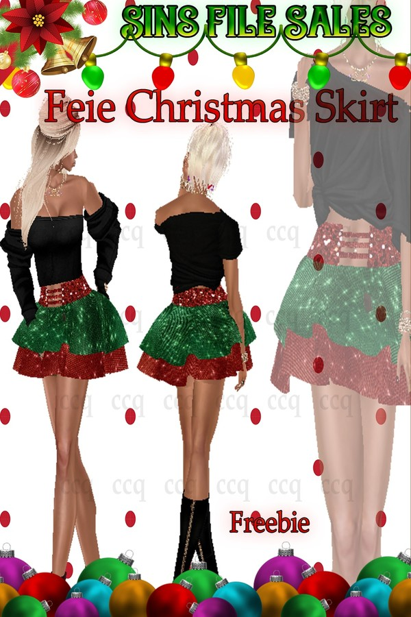 Freebie:Christmas Skirt 🎅