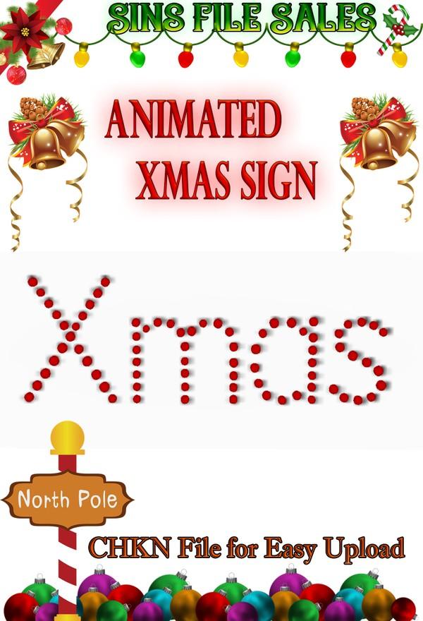 Animated Xmas Sign CHKN