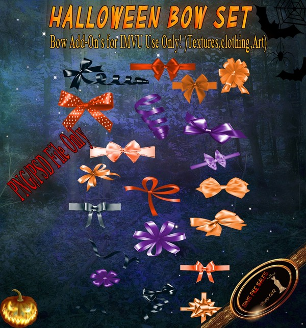 •Halloween Bow Add-On's•PSD