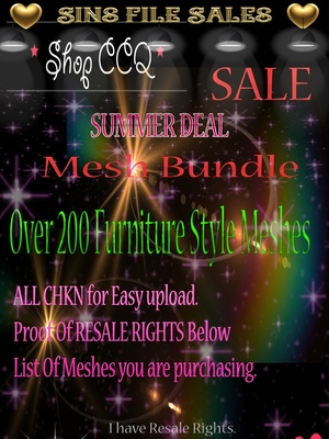 ♥HUGE SUMMER MESH DEAL♥ Over 200 Furniture Meshes! Limited Time Only!