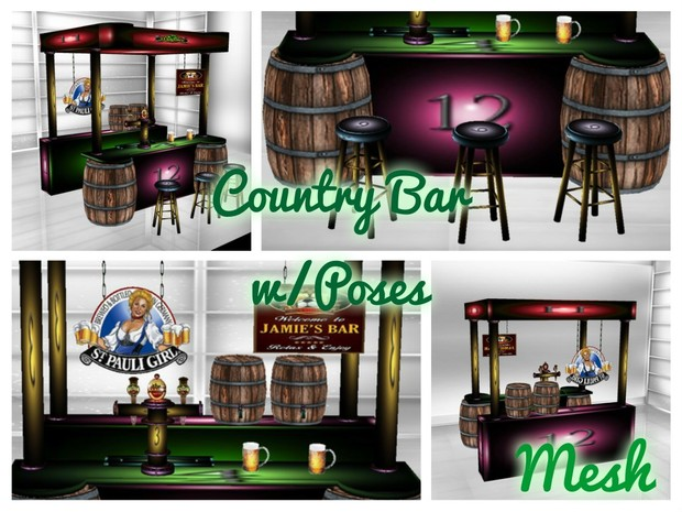 Country Bar w/Poses