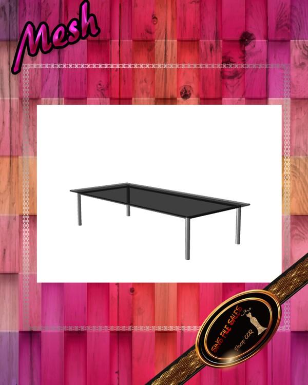 •Modern Glass Coffee Table Mesh•CHKN