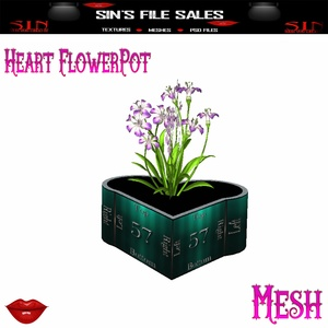 Heart Flowerpot *Mesh* W/Resale Rights