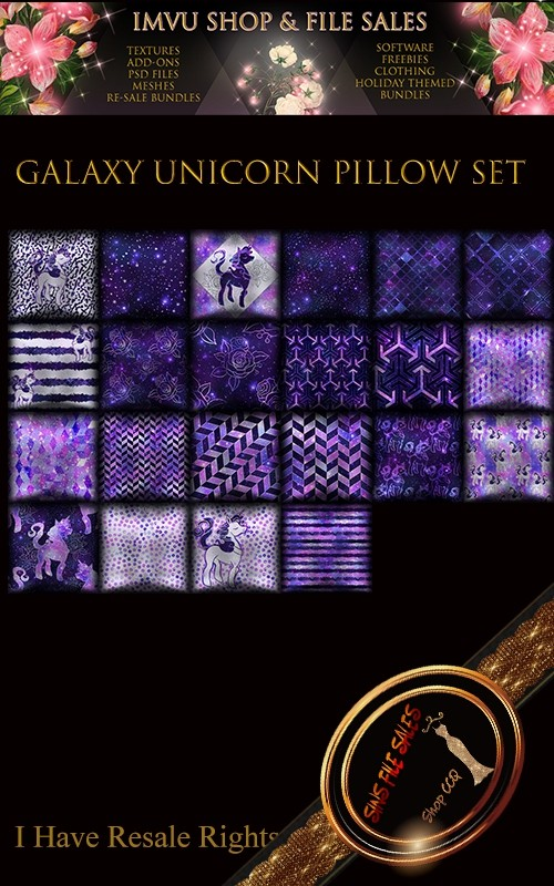 Galaxy Unicorn Pillow Set