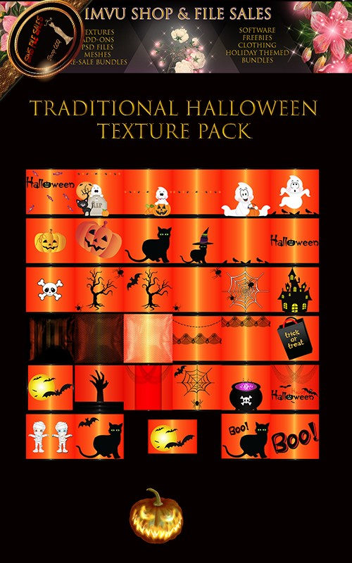 🎃Traditional Halloween Texture Pack- 35 Files