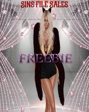 ♥Freebie Red/Black Fur♥ CHKN